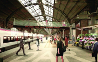 How Darlington station might look if multi-million pound plans to revamp it are implemented.