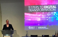 Javier Baldor, executive vice president of BST Global, speaking at the European CIO Conference in London.