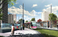 The Dudley - Brierley Hill extension of the Midland Metro will connect towns that had no rail provision.