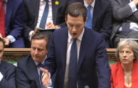 Chancellor George Osborne delivers his Budget in Parliament.