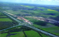 The Finningley and Rossington Regeneration Route Scheme (FARRRS) links Junction 3 of the M18 to the south of the town with the A638 – the old Great North Road – to the east.