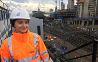 Fjolle Bunjaku, project manager for Network Rail, will be working over the Christmas period to make sure that the Kings Cross remodelling project is delivered to schedule.