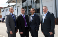 Pictured from left to right are Sweco technical director Stuart Wilson, principal engineer Barrie Wake, senior engineer Shimoo Choudhury and principal engineer Ben Sickling.
