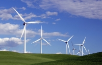 Renewable energy like wind power is surging ahead.