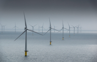 The Rampion offshore wind farm, located 13km off the Sussex coast.