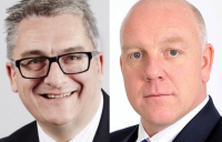 New WYG chief executive Douglas McCormick (left) replaces Paul Hamer (right) who is moving to Sir Robert McAlpine.