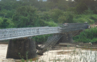 A Mabey replacement bridge in the Congo.