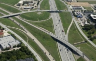 The new North Tarrant expressway in central Texas.