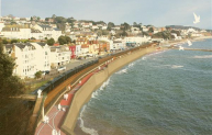 Artist impression of new Dawlish sea wall.
