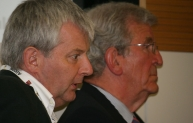 Huw Thomas of Foster and Partners with Mark Bostock of Heathrow Hub