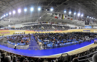 The Manchester Velodrome.