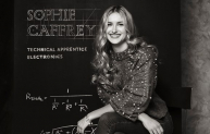 Technical apprentice Sophie Caffrey, who is also featured in the IET campaign.