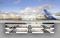 Thames Hub section - Foster and Partners