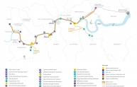 Tideway - proposed tunnel route and key