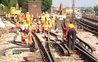 An important component of our track renewal programme is the replacement of points and crossings – which can dramatically improve reliability. The complicated junction at Neasden required the replacement of 46 points.