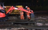 Ballast track replacement during engineering hours – a big step forward.