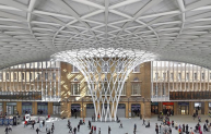 The stunning Kings Cross station.
