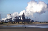 Redcar steelworks, now closed.