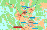 Stockholm cross connections map